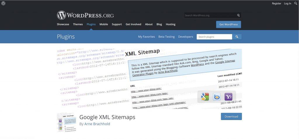 google xml sitemaps plugin en